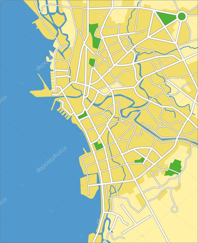 马尼拉的矢量图地图