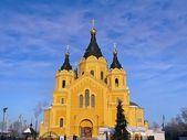 Russian orthodox cathedral in Nizhni Nov — Stock Photo