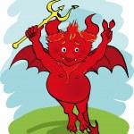Постер, плакат: Devil with a trident