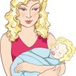 Mother and baby — Stock Vector