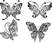 Butterfly set — Vettoriale Stock