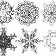 Set of snowflakes — Stock Vector #3639731