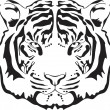Stock Vector: Tiger head silhouette.