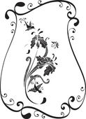 Flower and bird — Stock Vector