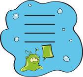 Water monster. — Stock Vector