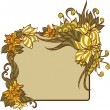 Floral frame. — Stock Vector