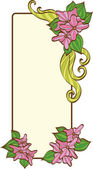 Cornice floreale di. — Vettoriale Stock