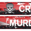 Crime Themed Banners — Stock Photo