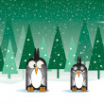 Snowy Penguins — Stock Photo