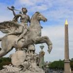 Statue at Place de la concorde, Paris France. — Stock Photo #3773353