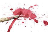 Krwawe ostrze — Zdjęcie stockowe