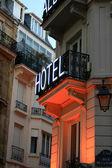 Hotel sign in Paris — Stock Photo