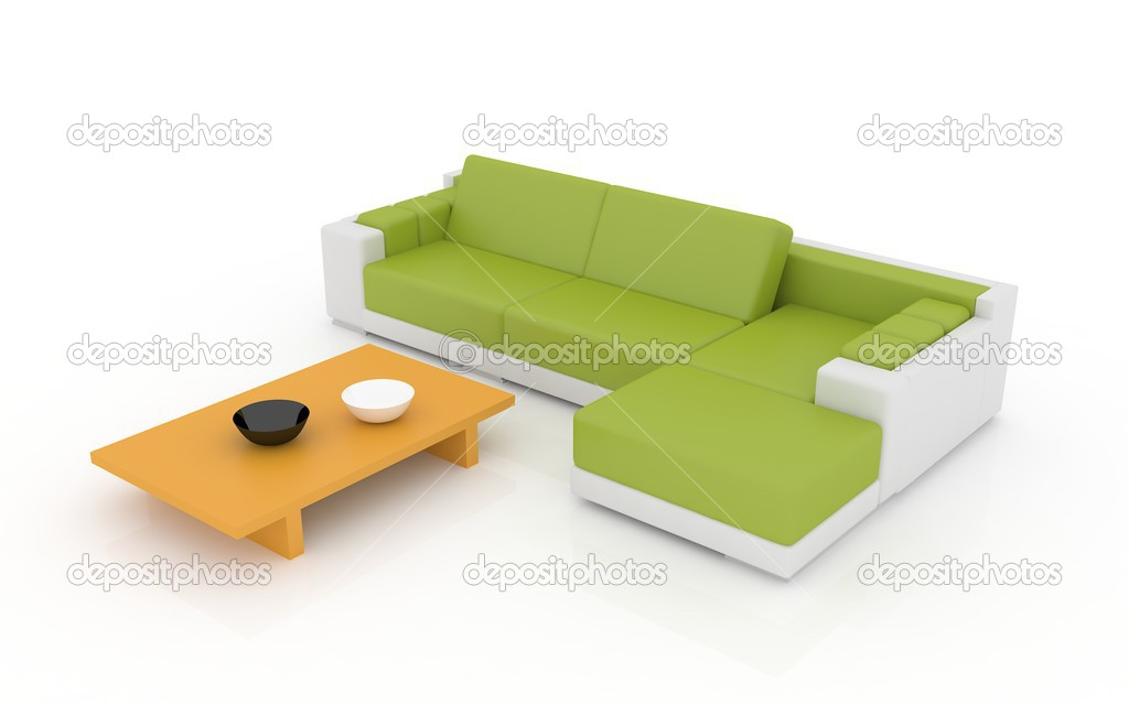 Colored furniture isolated on a white  Stock Photo #2873487