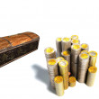 Coin and treasure chests — Stock Photo #3175951