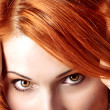 Royalty-Free Stock Photo: Beautiful redhair woman close up style portrait