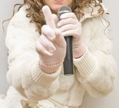 Trendy Singer — Stock Photo