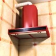 Cooker hood detail — Stock Photo