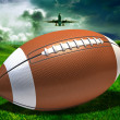 Football on a field — Stock Photo