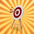 Royalty-Free Stock Photo: Arrows in target