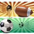 Football poster — Stock Photo
