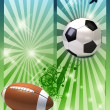 Stock Photo: Football poster