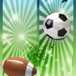 Football poster - Stock Photo
