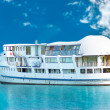 White cruise ship - Stock Photo