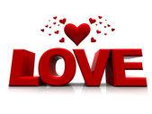Happy valentines love with hearts — Stock Photo