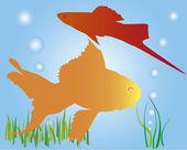 Aquarian small fishes — Stock Vector