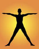 Yoga un estante — Vector de stock