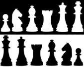 Satranç figürleri — Stok Vektör