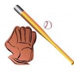 Baseball accessories — Stock Vector