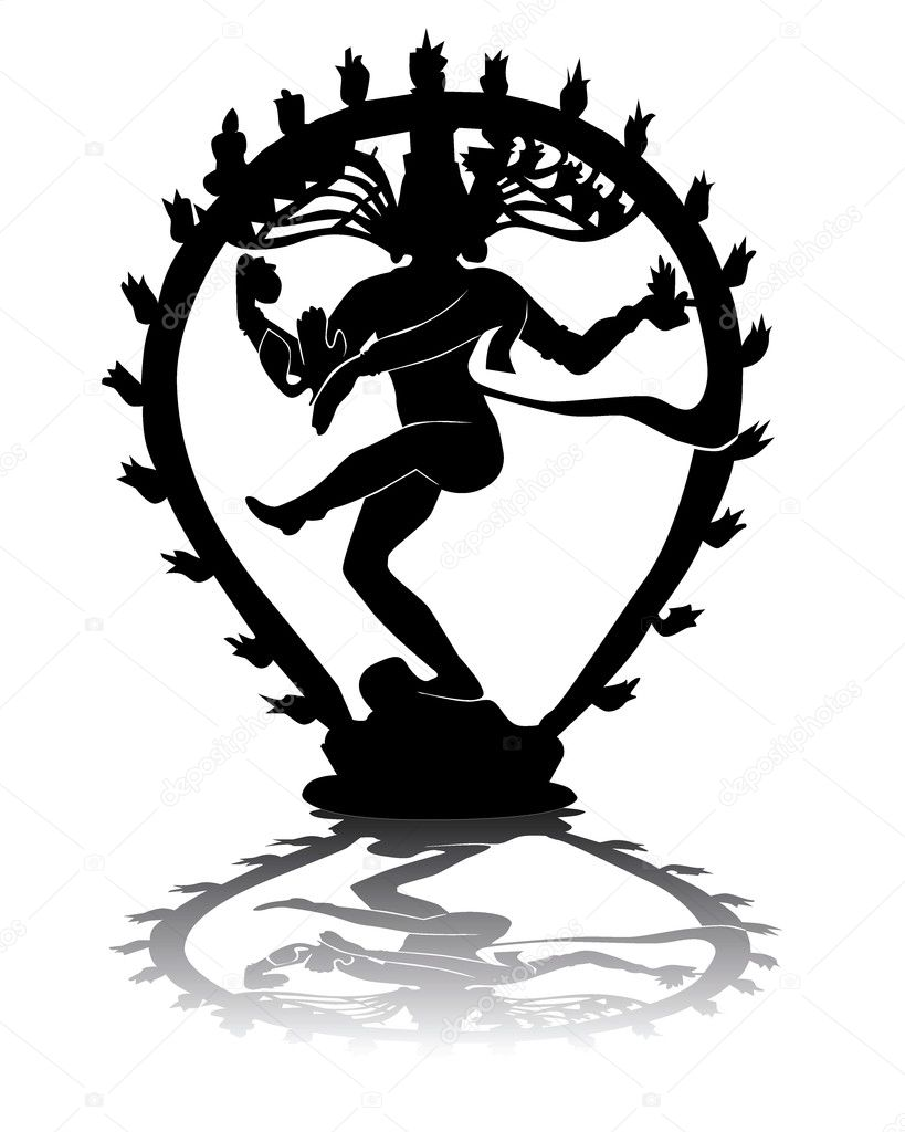 Black silhouette of Shiva — Stock Vector © mayboro #3601109