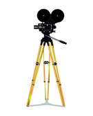 Old film movie camera — Stock Vector