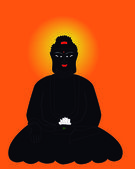 Silhouette of the Buddha — Stock Vector