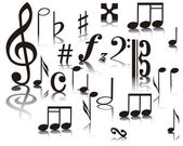 Notas musical — Vector de stock