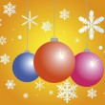 毛树玩具和雪花 — 图库矢量图片