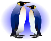 Two penguins — Vector de stock