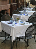 Empty tables waiting for patrons — Stock Photo