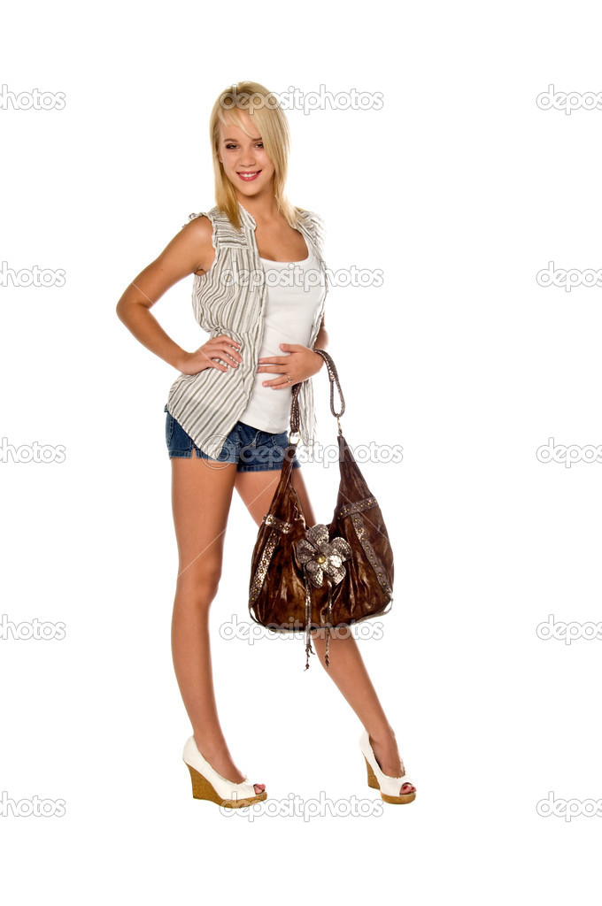 Blonde woman on white — Stock Photo #2931869