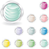 Web buttons in pastel tint — Stock Photo