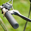 Bicycle grip and skid on grass — Stock Photo #2798186