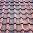Old potsherd roof texture — Stock Photo