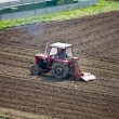 Stock Photo: Tractor device plough agricultural