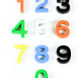 Learning colorful 3d plastic numbers — Stock Photo