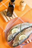 Trout fish restaurant dinner food — Stock Photo