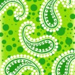 Green paisley background - Stock Photo
