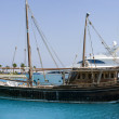 Rustic yacht in the Red Sea — Stock Photo