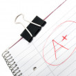 Smiley scribbles in school — Stock Photo