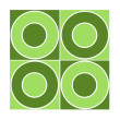 Royalty-Free Stock Photo: Seamless tile with green circles